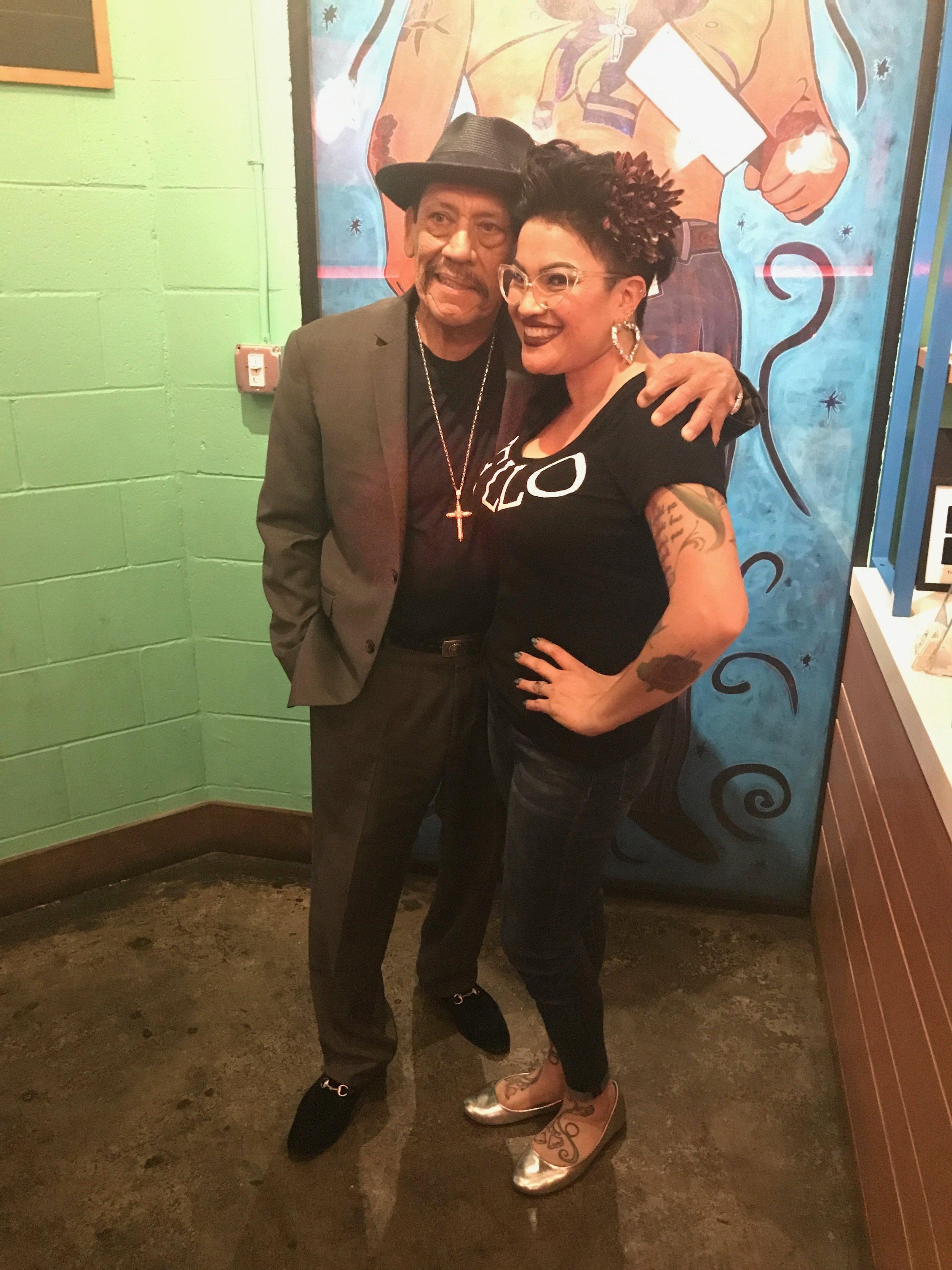 Charlene and Danny Trejo at Trejo's Cantina