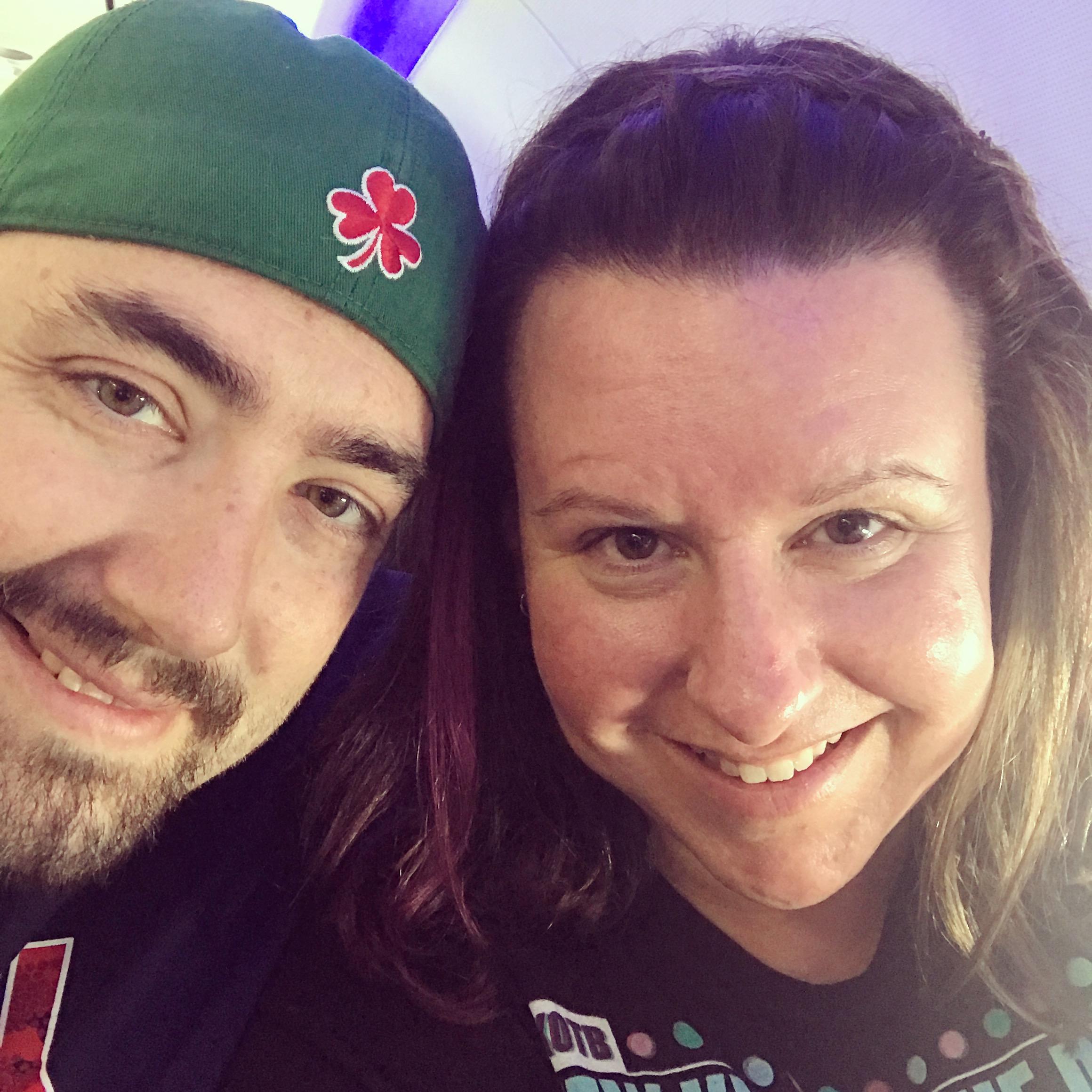 Kevin & Nikki on the plane back to Boston