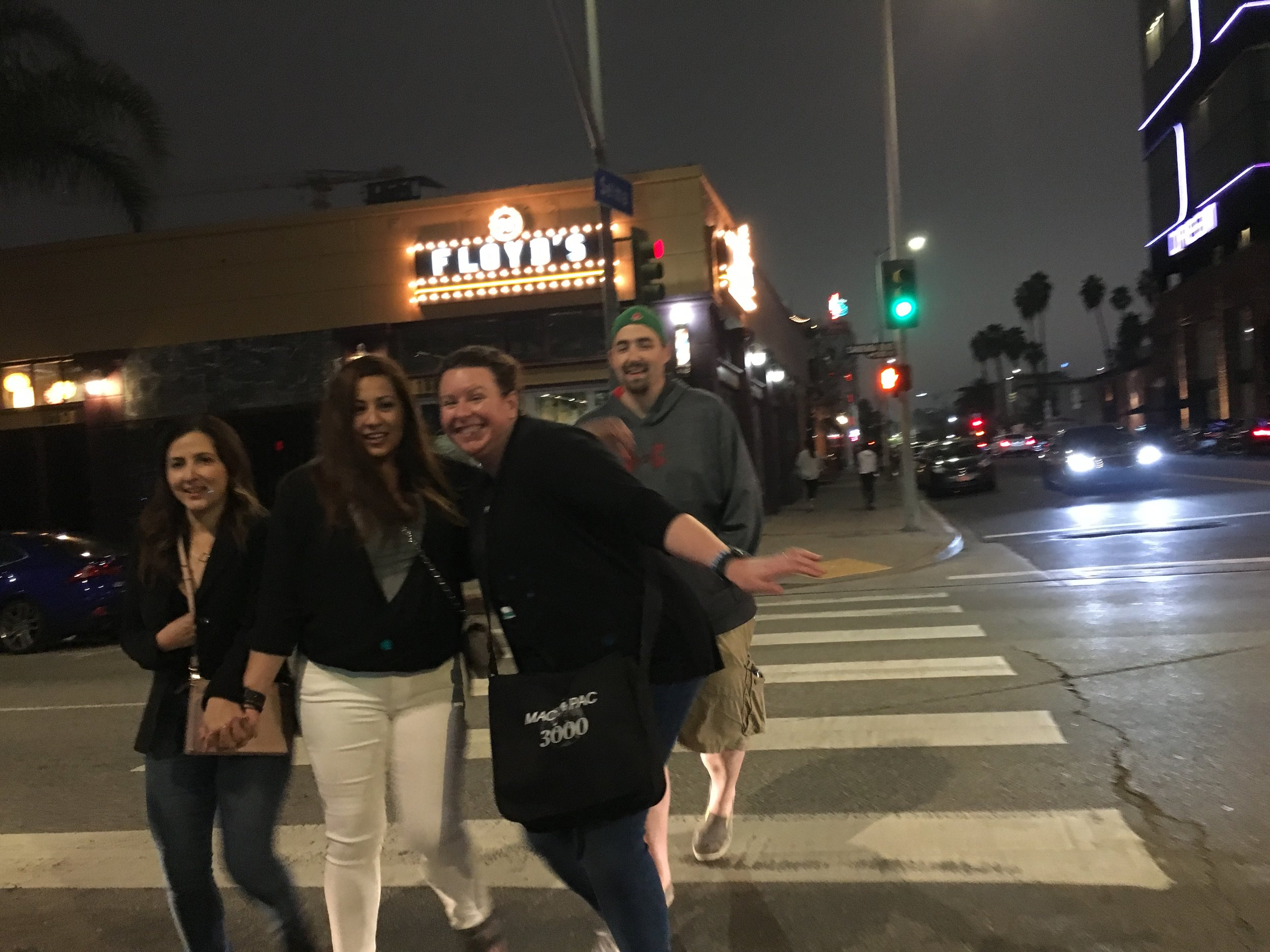 Nikki, Jenny, Patty & Kevin - Photo by Charlene - Joey McIntyre Hollywood Nights