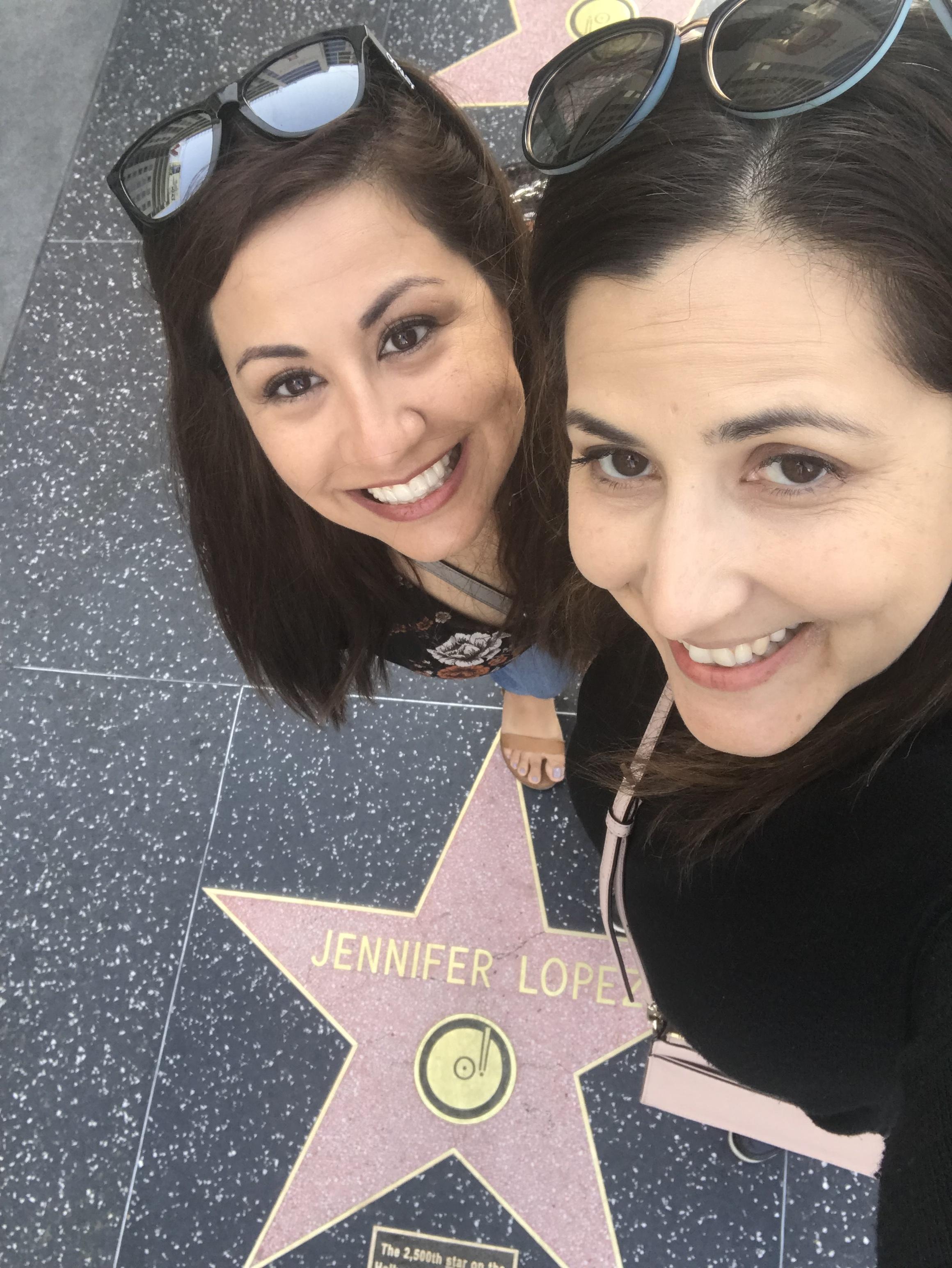 Jenny & Patty - Hollywood Walk of Fame - Jennifer Lopez Star