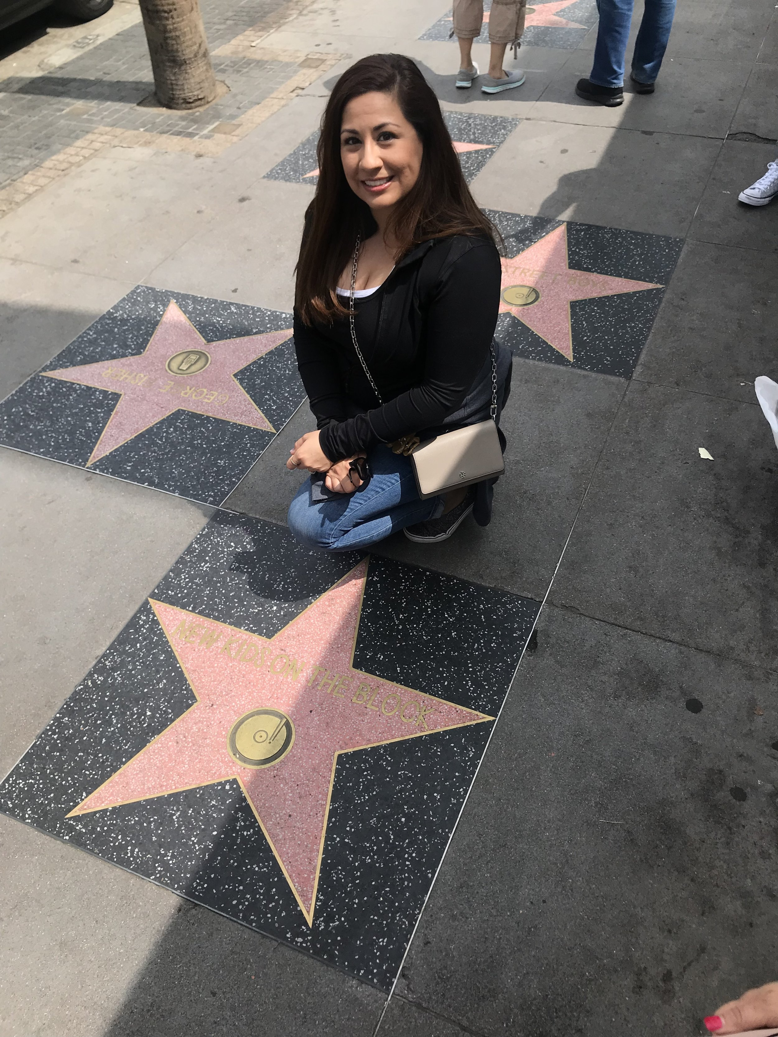 Jenny and the New Kids on the Block Star at the Hollywood Walk of Fame (Photo by Jenny)