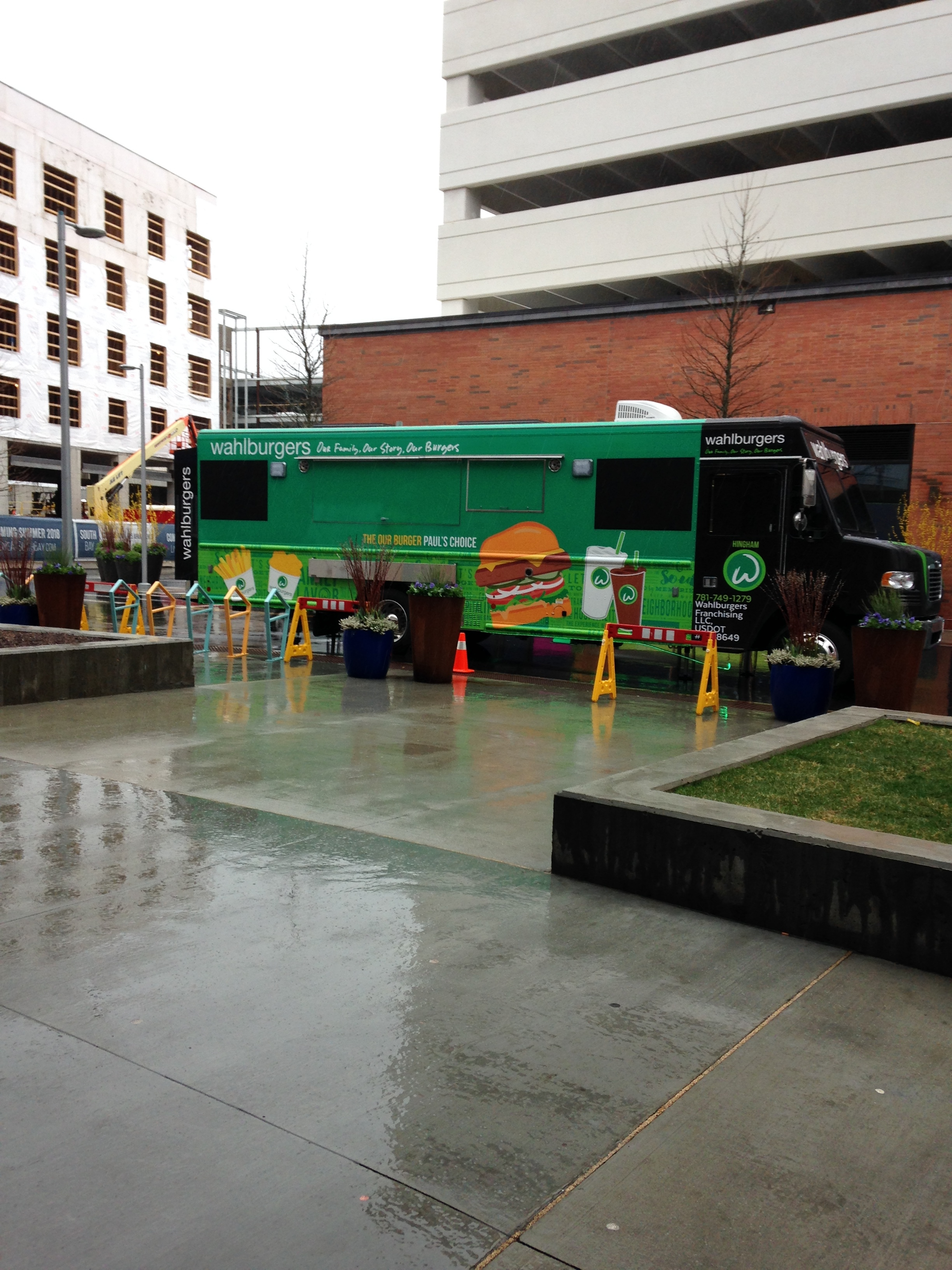 Wahlburgers Food Truck at South Bend in Dorchester - Paul was inside but we didn't know that!