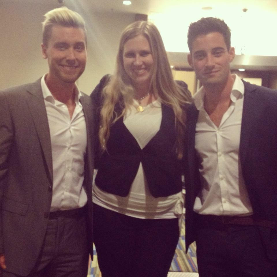 Stephanie with Lance & Michael