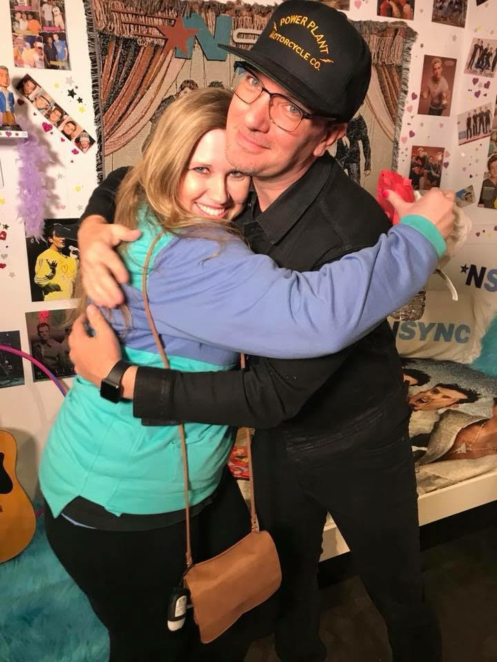 Stephanie and JC Chasez in the NSYNC Popup Bedroom 2018