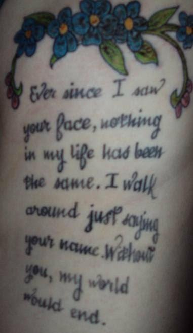 Stephanie's NSYNC Tattoo