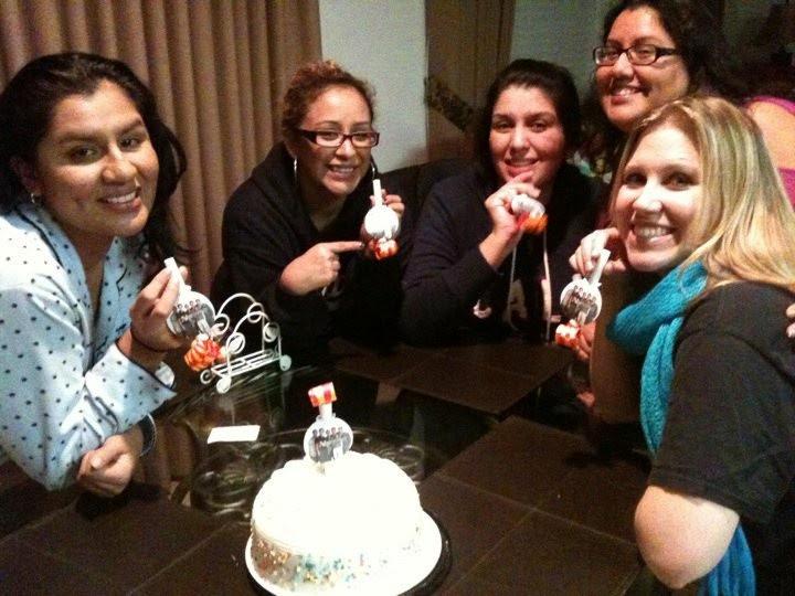 "Stephanie and her friends celebrating ""NSYNC Nights"""