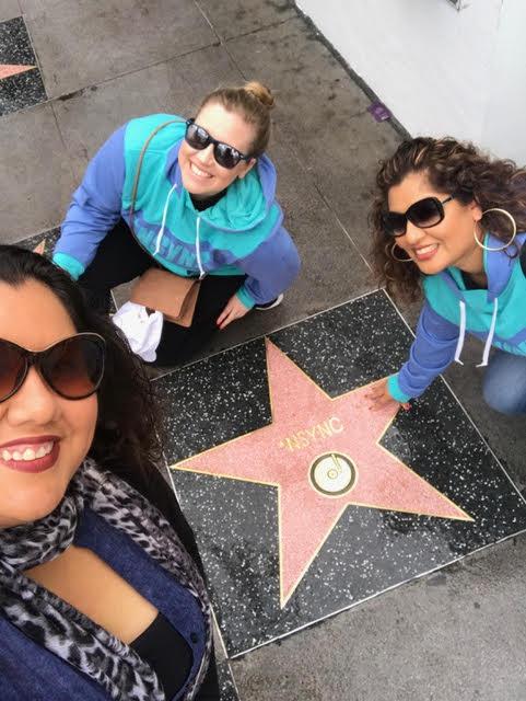 NSYNC Hollywood Blvd Star - Nikki is jealous of those NSYNC hoodies!