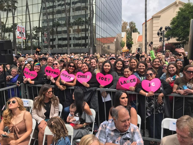 At the NSYNC Hollywood Walk of Fame Star Ceremony - Nikki remembers seeing you all!
