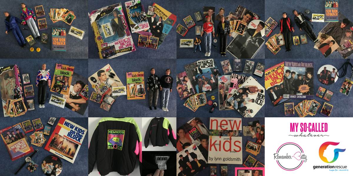 My So-Called Whatever NKOTB Giveaway to Celebrate 1 Year of the My So-Called Whatever 80s/90s and NKOTB Podcast supporting Generation Rescue and Remember Betty