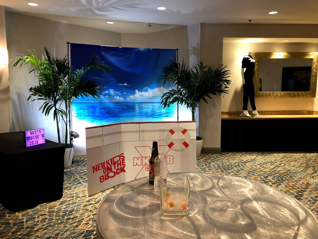 New Kids on the Block Cruise X 2018 Pop-up at Marriott Biscayne Bay