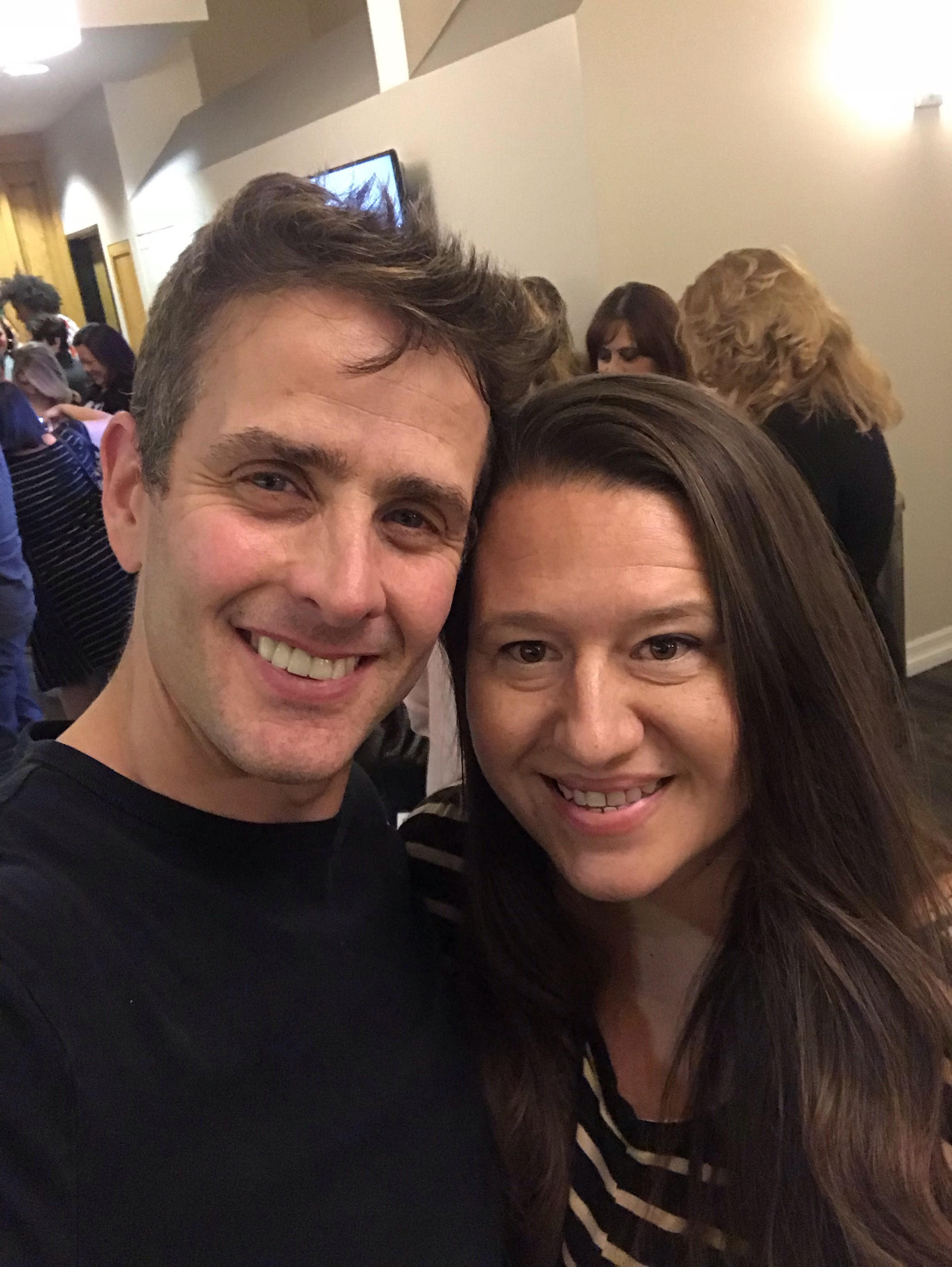1st NK Selfie with Joey McIntyre After A Funny Thing That Happened On The Way To The Forum