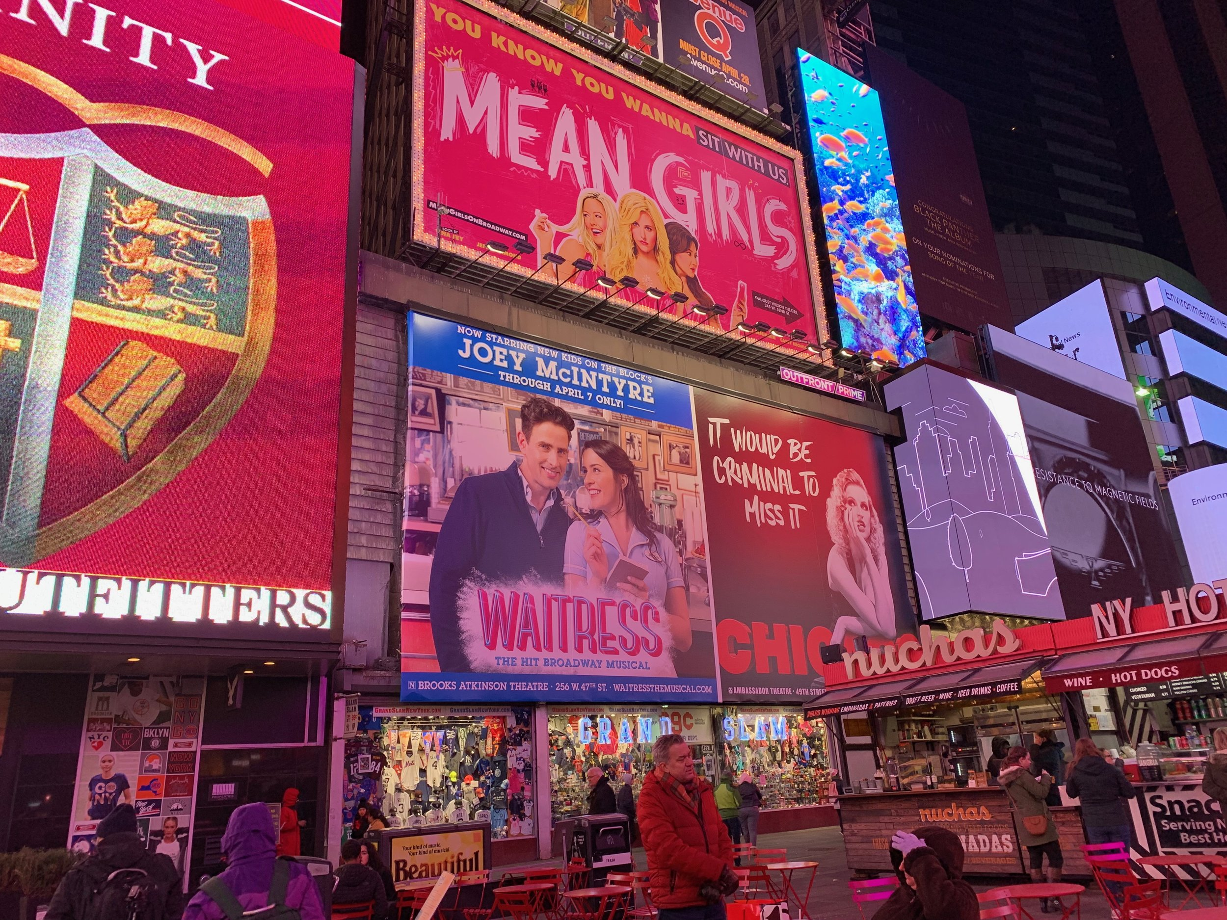 Waitress sign in Time Square.JPG