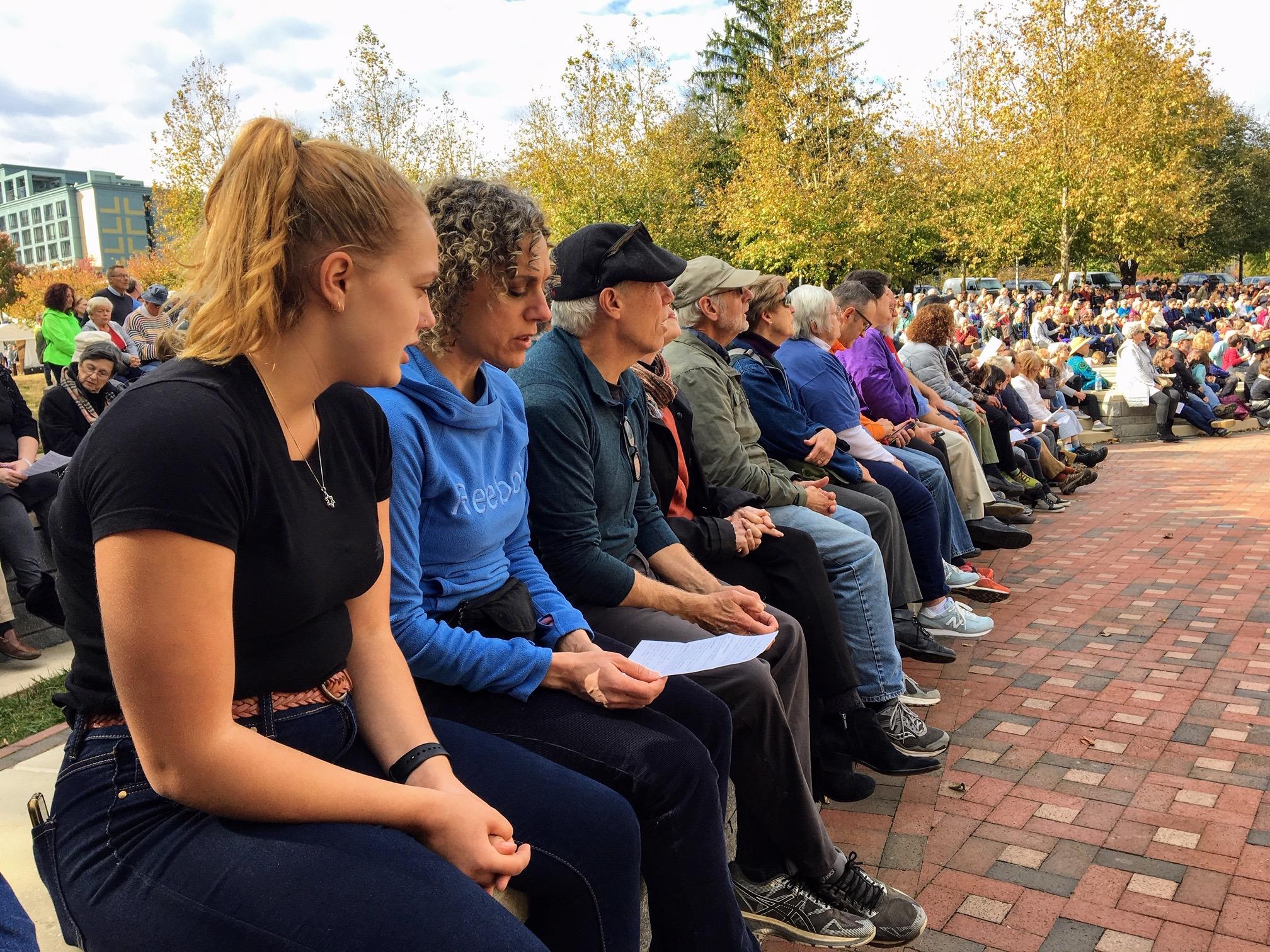 Lael and group at Vigil.jpg
