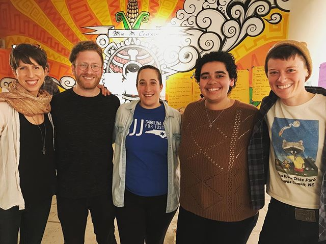 Several of our member-leaders spent the weekend learning from and sharing with Jewish community organizers, political educators, and spiritual leaders throughout the South and Midwest. We can't wait to bring new skills and connections back to North Carolina!