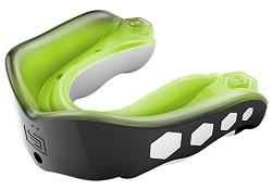 Features & Benefits  The Gel Max Flavor Fusion Mouthguard delivers essential protection and comfort with a convertible tether that allows the mouthguard to be used strapped or strapless. This triple layer mouthguard provides a universal fit for all ages.  Flavours - Bubble Gum, Mint, Fruit Punch, Blue Raspberry and LemonLime  CLASSIC FIT: Traditional and original, all-around performer  Gel-Fit liner for tight, comfortable fit  Flavor Fusion Technology  $10,000 Dental Warranty    Mouthguard FAQs Download the pdf     Mouthguard fit instructions Download the pdf     Mouthguard warranty Download the pdf