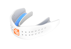Features & Benefits  Designed for all athletes, the SuperFit mouthguard provides protection in a super low profile the doesn't hinder performance in the field or on the court. The SuperFit allows for unrestricted breathing and while providing athletes with ultra comfort. The new composite blend adds increased durability while maintaining fit and performance all season long.  SLIM FIT: Less material, lower profile, better breathability  Bio-Fit design  Gel Windows  Form-Fit Chassis  Low-Temp Fast Fit  $10,000 Dental Warranty   Mouthguard Fit Instructions and Warranty - Download the PDF