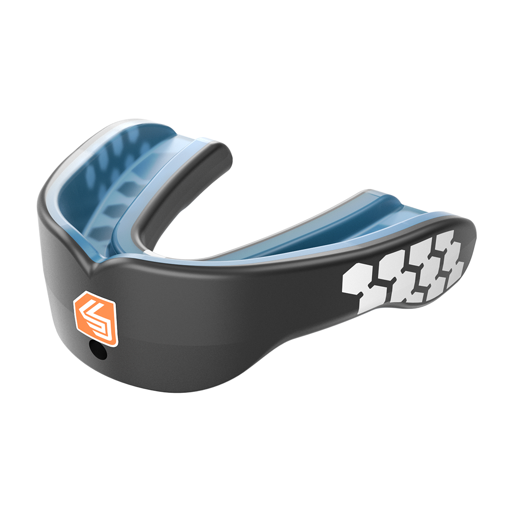 Features & Benefits  This is high profile comfort and protection in a low-profile design. Fully revamped for 2017, Gel Max Power features a tight, natural fit and a reinforced inner grid worthy of any sport. Power on.  CLASSIC FIT: Traditional and original, all-around performer  Reinforced outer frame for increased protection  High-impact tech in a low-profile design  $10,000 Dental Warranty    Mouthguard Fit Instructions and Warranty Download the pdf