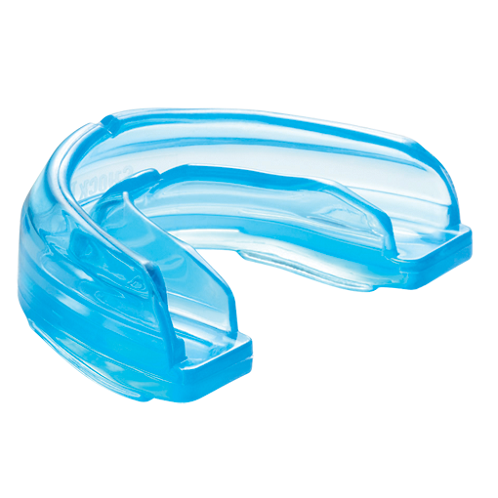 Features & Benefits  The Braces mouthguard: offering essential protection for athletes with braces, is specifically designed to conform to upper brace brackets for instant comfort and prevention from lacerations. Made with 100% medical-grade silicone, it adapts to changes in mouth structure as teeth adjust. Available in strapped or strapless versions.  BRACES FIT: Specifically developed for use with orthodontics  Essential protection for upper braces wearers  $10,000 Dental Warranty    Mouthguard fit instructions  Download the pdf     Mouthguard warranty  Download the pdf