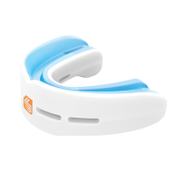 Features & Benefits  Nano protection for upper and lower teeth for high impact sports. This dual-arch, low profile mouthguard is designed to enhance upper and lower jaw protection. Featuring a double monocoque shock frame, it absorbs and disperses impact away from the point of contact.  CLASSIC FIT: Traditional and original, all-around performer  High-impact technology for high-impact sports  Protects, stabilizes both upper & lower teeth/jaw  $10,000 Dental Warranty    Mouthguard fit instructions Download the pdf     Mouthguard warranty Download the pdf
