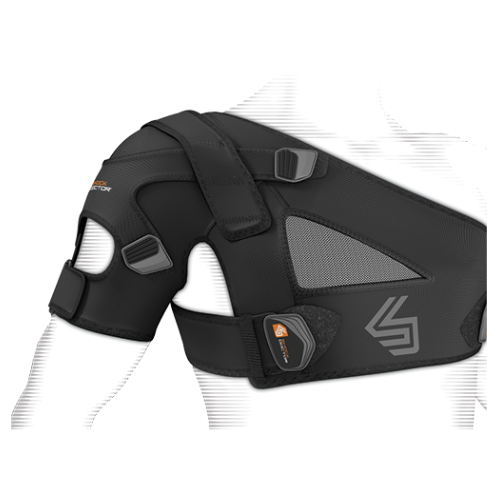 Features & Benefits   Stability control strap system with multi-position X-Fit® control compression/retention support   BEST FOR: Helps prevent and heal AC sprains, Rotator Cuff injuries and moderate separations  LEVEL 3 - MAXIMUM:  STABILITY—SUPPORT/COMPRESSION/ALIGNMENT/HEALING  Maximum support for minor/moderate sprains/strains/instabilities during active recovery  Soft tissue support, joint alignment, therapeutic warmth/blood flow  Proprioception: Bio-neurological awareness of stress—added support informs muscle to contract to protect itself  WARNING: This product is not a substitute for medical care. Always seek professional medical advice for the diagnosis and treatment of pain, injury or irritation.