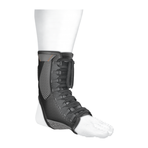 Features & Benefits   Compression wrap lacing system with comfort gel support   BEST FOR: Helps prevent and heal Grade 2 and 3 sprains and ankle instability  LEVEL 3 - MAXIMUM:  STABILITY—SUPPORT/COMPRESSION/ALIGNMENT/HEALING  Maximum support for minor/moderate sprains/strains/instabilities during active recovery  Soft tissue support, joint alignment, therapeutic warmth/blood flow  Proprioception: Bio-neurological awareness of stress—added support informs muscle to contract to protect itself  WARNING: This product is not a substitute for medical care. Always seek professional medical advice for the diagnosis and treatment of pain, injury or irritation.