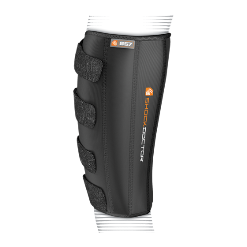 Features & Benefits   Multi-strap closure system with adjustable compression   BEST FOR: Helps prevent and relieve mild to moderate pain associated shin splints and calf strains  LEVEL 2 - MODERATE:  SUPPORT—COMPRESSION/ALIGNMENT/HEALING  Moderate support for minor/moderate sprains/strains/instabilities during active recovery  Soft tissue support, joint alignment, therapeutic warmth/blood flow  Proprioception: Bio-neurological awareness of stress—added support informs muscle to contract to protect itself  WARNING: This product is not a substitute for medical care. Always seek professional medical advice for the diagnosis and treatment of pain, injury or irritation.