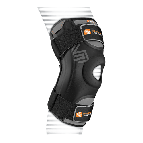 Features & Benefits   Precurved anatomical design with dual side stabilizers   BEST FOR: Helps prevent and heal medial/lateral instability, minor patella instability, meniscus injuries, minor ligament sprains  LEVEL 2 - MODERATE:  SUPPORT—COMPRESSION/ALIGNMENT/HEALING  Moderate support for minor/moderate sprains/strains/instabilities during active recovery  Soft tissue support, joint alignment, therapeutic warmth/blood flow  Proprioception: Bio-neurological awareness of stress—added support informs muscle to contract to protect itself  WARNING: This product is not a substitute for medical care. Always seek professional medical advice for the diagnosis and treatment of pain, injury or irritation.