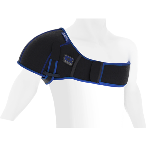 Features & Benefits   Ideal for shoulder bruises, strains, sprains and tendonitis. Anatomically designed with adjustable straps and multiple gel ice packs to create the most complete icing solution for shoulder injuries and soreness. It helps reduce swelling and pain with gentle compression and deep 360° ice coverage.   DUAL THERAPY:  Use ice therapy for sprains, strains, tendonitis and post activity soreness and swelling  Use heat therapy to loosen stiff muscles and to relieve arthritis and muscle spasm pain  PDAC Assigned Code: A9273 OR A9270