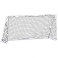 "FEATURES  When it's game time, this full-size soccer goal is what you'll need for the next 90 minutes. Its tournament-grade quality begins with heavy-duty, rust-resistant steel tubing and reinforced bars that provide a sturdy frame, while the all-weather PE net withstands vigorous practice and outdoor environments. Six rust-resistant ground stakes firmly and securely anchor the goal in the ground. Precision fit locking pins allow for easy and secure assembly as well as break-down and storage.   12'X6' DOWNLOAD INSTRUCTION MANUAL PART 1    12'X6' DOWNLOAD INSTRUCTION MANUAL PART 2   MLS® Branded  Precision fit locking pins  1.25"" heavy-duty galvanized steel tubing  Reinforced bars  All-weather 4"" square polyethylene (PE) netting  6 galvanized ground stakes  Recommended for backyards and tournament level play"