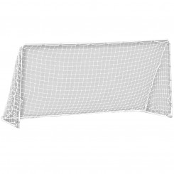 "FEATURES  Leave the cones in the garage, and train like the best whether you're the goalkeeper or forward. Built with heavy-duty rust-resistant steel tubing and all-weather plastic netting, this goal will survive even the roughest conditions. Precision fit locking pins & rust-resistant ground stakes allow for quick and secure assembly, portability and easy storage. With this goal, you""ll be the neighborhood practice destination.     DOWNLOAD INSTRUCTION MANUAL PART 1      DOWNLOAD INSTRUCTION MANUAL PART 2    Goal assembles to 10' wide x 5' high x 4' deep  Heavy duty galvanized steel tubing, 1.25"" OD  Fast set up and convenient folding design for easy storage  Precision fit locking pins for easy and secure assembly  All weather 4"" x 4"" PE net secured with self stick straps  (6) Galvanized ground stakes provide stability  Recommended for training, backyards, league and club practices"