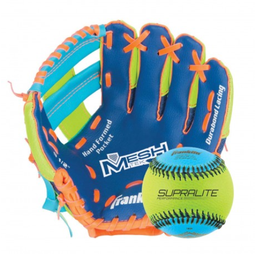 FEATURES  Franklin® Teeball MESHTEK series gloves offer the lightest and most comfortable gloves for any first-time players. Utilizing our innovative and lightweight technical-mesh shell construction, these gloves are soft and easier for the younger players to squeeze closed.