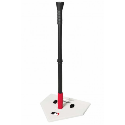 """FEATURES  Franklin's MLB® Anti-Tip Batting Tee gives you peace of mind knowing you won't have to pick up a knocked over tee after every swing. The Franklin MLB® Anti-Tip Batting Tee is made with a high-impact post with an anti-tip flexible PVC post connector. The post's Infinite height system adjusts between 23 inches and 33 inches to accommodate players of all sizes. This batting tee also features a built-in handle for carrying and storage straps making it easy to bring this tee anywhere.  DOWNLOAD INSTRUCTION MANUAL PART 1    DOWNLOAD INSTRUCTION MANUAL PART 2   High-impact post with plastic home plate  Anti-tip flexible PVC post connector  Post height adjusts between 23"""" and 33""""  Built-in carrying handle and storage straps  Includes batting tips"""