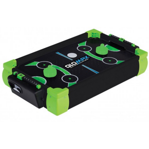 """FEATURES  Powerful ZERO GRAVITY SPORTS® air blower  End goal puck return  Manual slide scorer  Includes 2 pushers and 2 pucks  Requires 6 """"AA"""" size alkaline batteries (not included)  Ages 6+  Size: 20"""" x 12"""" x 3.8"""""""