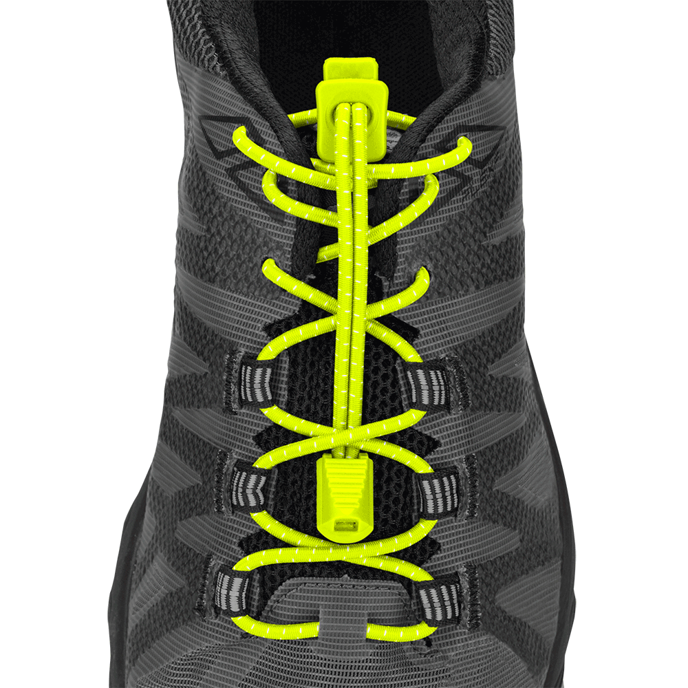 Features & Benefits  Performance laces never looked so great! These super-secure, ultra-grippy, elastic laces are the ideal no-tie shoelace solution for athletes.  Ideal for runners, walkers, triathletes, kids, and the elderly  Unique fastening system keeps laces secure and tight  One-time setup is quick, and lace adjustments easy