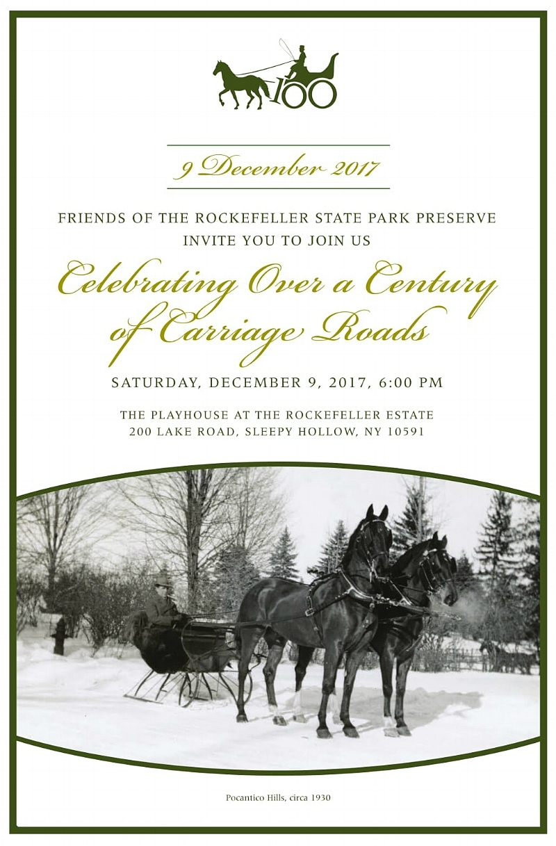 Celebrating Over a Centuryof Carriage Roads - Saturday, December 9, 2017