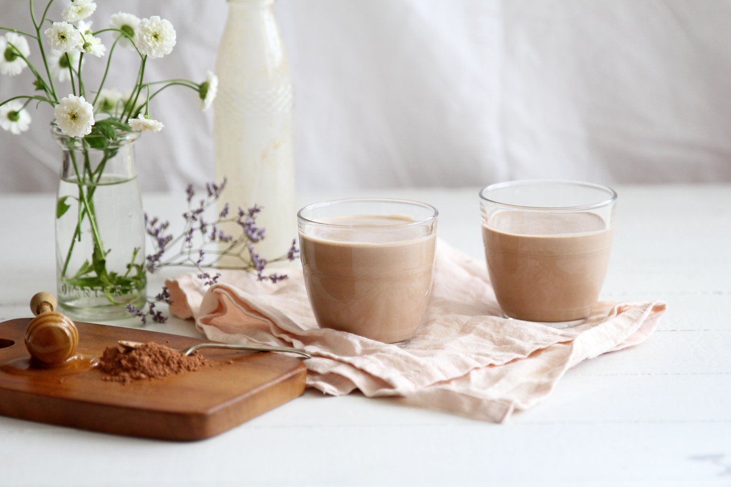 Honey, Cacao, And pumpkin Seed 'Milk' -