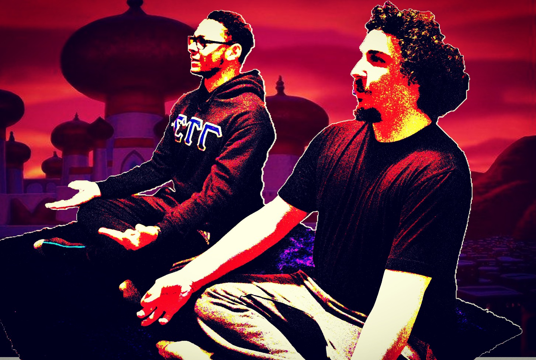 Aziz and Gordon in Aladdin.JPG