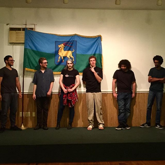 Who jumps first?  #improv #comedy #rehearsal