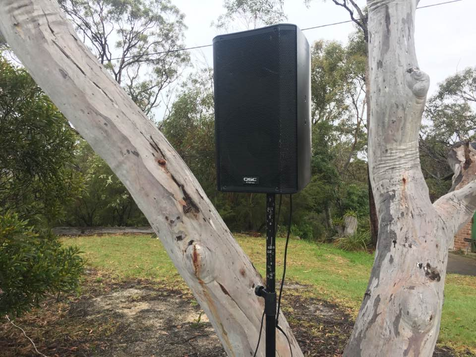 One of the 6 speakers used to play the stars at Linden Observatory