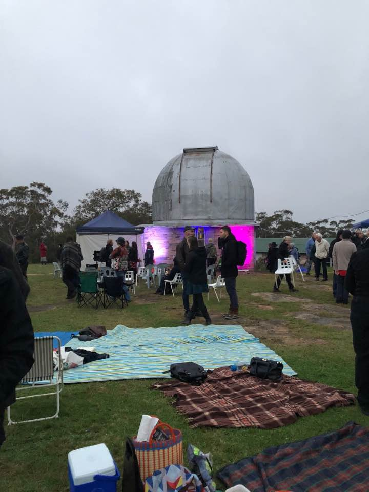 Picnic in the slighting wet weather at 'Altitude Now' - Linden Observatory.