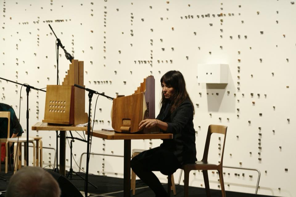 Bree Van Reyk playing  Loom Patterns  for organetto and sine tones by Amanda Cole, Art Gallery of NSW - May 9, 2018