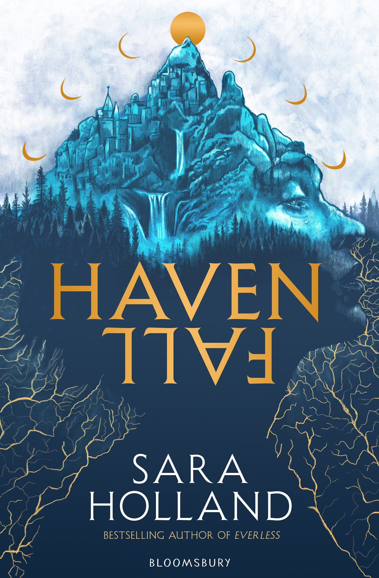 Behold the stunning UK/ANZ cover for HAVENFALL! Thank you so much to Peter Strain for creating this beautiful jacket. This edition will be out in paperback on March 3rd, 2020 and you can preorder it  here !