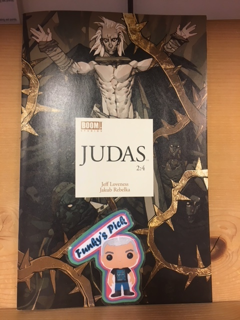 Judas #2 (of 4) - Funky's Pick (Part I)Judas comes face-to-face with Satan, and the Great Adversary begins to win him over.