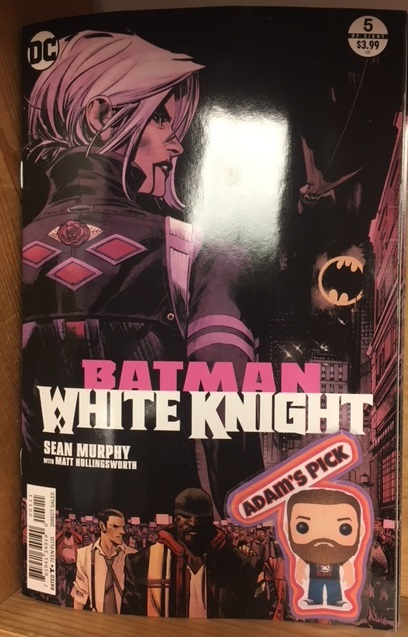 Batman: White Knight #5 (of 8) - Adam's PickJack's mind and body begin to betray him as he prepares for an inevitable showdown with Batman, and Bruce himself struggles to keep his team united. As the game gets tougher, Batman seeks counsel from a shocking source-and after Wayne Manor is infiltrated, a car chase for the ages aims to curb Napier's supercriminal crew once and for all.