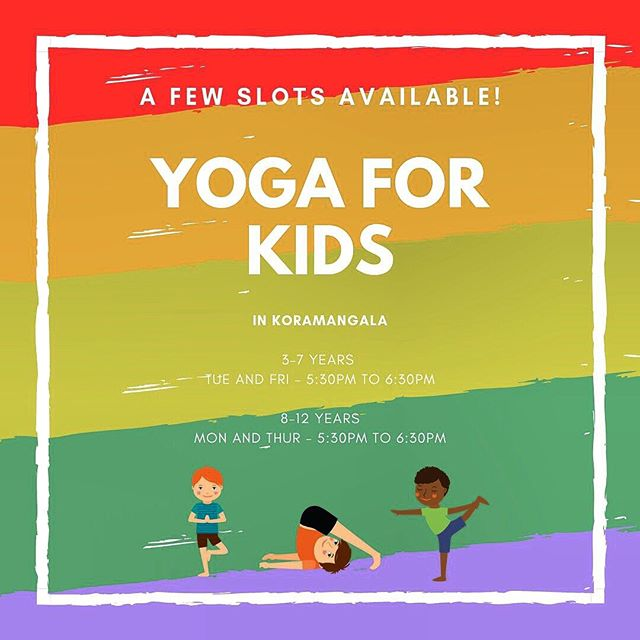 """Why Do Kids Need Yoga? ⠀⠀⠀⠀⠀⠀⠀⠀⠀ ▪Build on interest. ▪Enhance creativity. ▪Develop gross, fine motor skills and coordination. ▪Flexibility and strength. ▪Self-esteem and body awareness. ▪Develop social skills through group interactions. ▪Comforting space to relax and express. ⠀⠀⠀⠀⠀⠀⠀⠀⠀ ⠀⠀⠀⠀⠀⠀⠀⠀⠀ What Will The Kids Learn? ⠀⠀⠀⠀⠀⠀⠀⠀⠀ ▪Yoga through stories. ▪Movements of the spine. ▪Guided visualizations. ▪Simple """"learning to breathe well"""" exercises. ▪Yogic moral and games. ▪Simple peace mantra chanting. ⠀⠀⠀⠀⠀⠀⠀⠀⠀ DM if interested and for other details. ⠀⠀⠀⠀⠀⠀⠀⠀⠀ ⠀⠀⠀⠀⠀⠀⠀⠀⠀ #kids #kidsyoga #bangalore #koramangala #kidshealth #mothers #fathers #kidscare"""