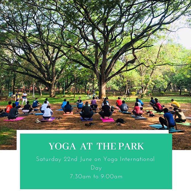 Come and be a part, this Yoga International Day, 2019 😊🧘🏻♀️ ##  With @premilashetty @ranjithvallathol @ranjithvallathol @being_ida @archanaisanambi  ##  #yoga #yogaatthepark #cubbonparkbangalore #internationalyogaday #2019