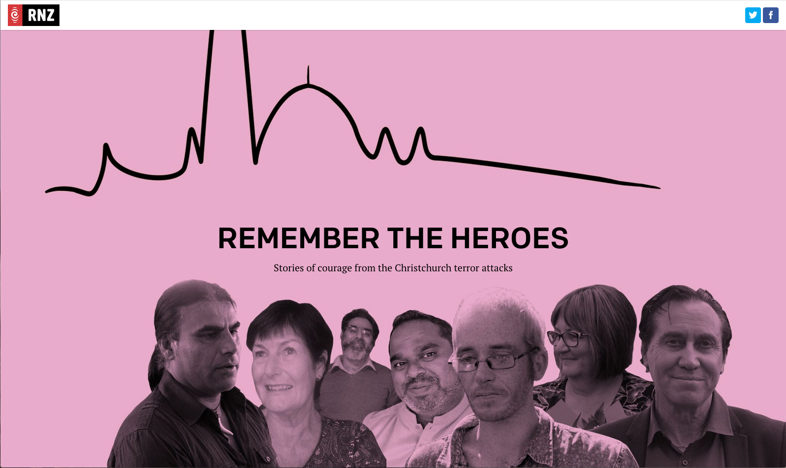 Graphic design and photo-illustration for RNZ's longform article acknowledging those who helped so many during the terror attacks in Christchurch.  Follow this link to the full article:  http://shorthand.radionz.co.nz/remember-the-heroes/index.html