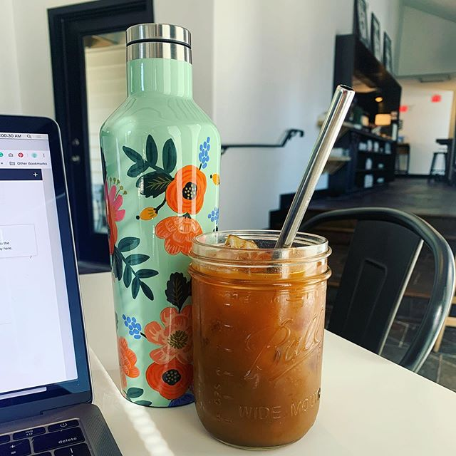 Love when client meetings give me an excuse to visit new-to-me coffee shops 🥰☕️ #willtravelforcoldbrew #workfromanywhere #squarespacedesigner