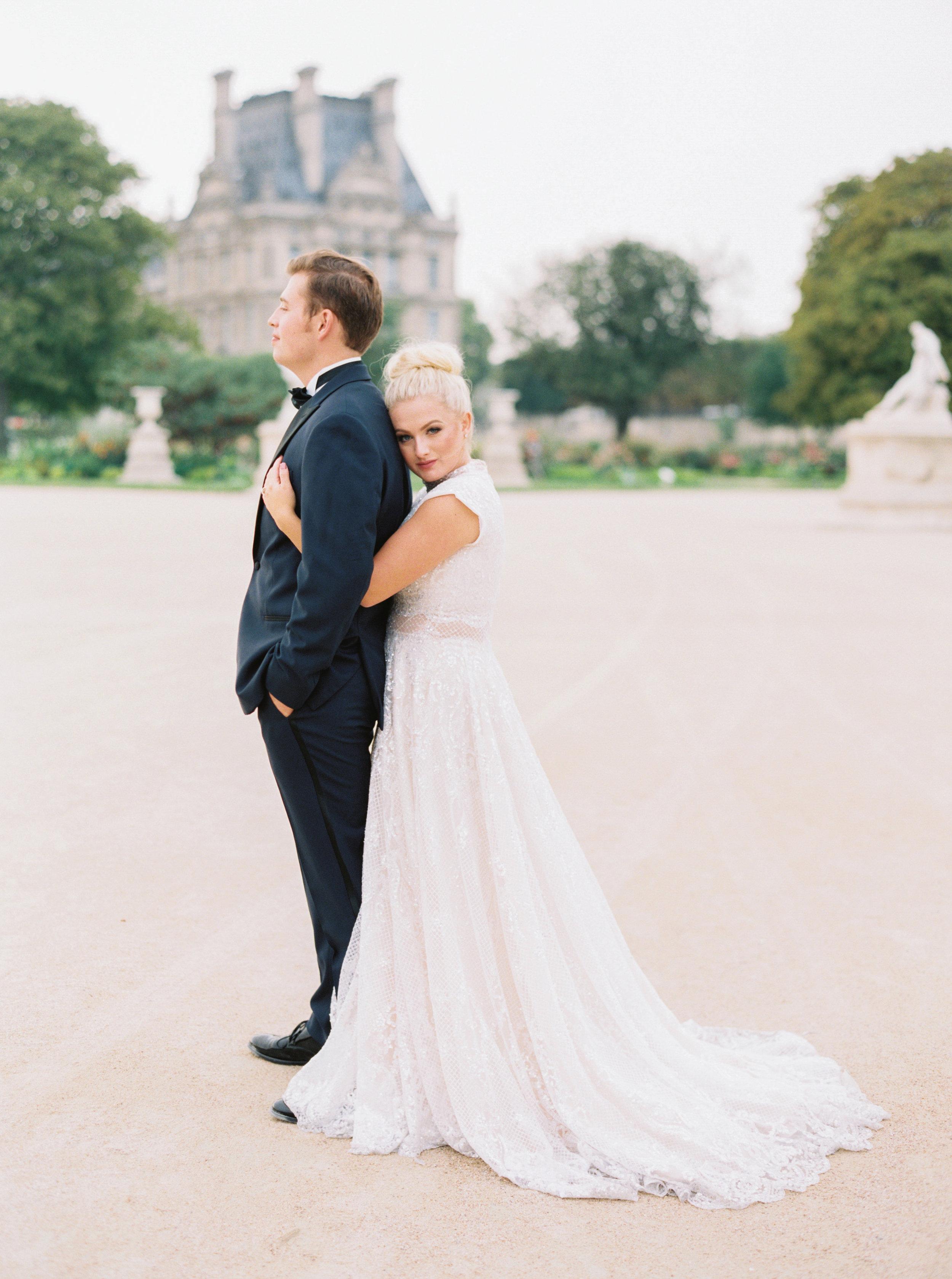Rachael and Cameron - Paris, France (real bride)