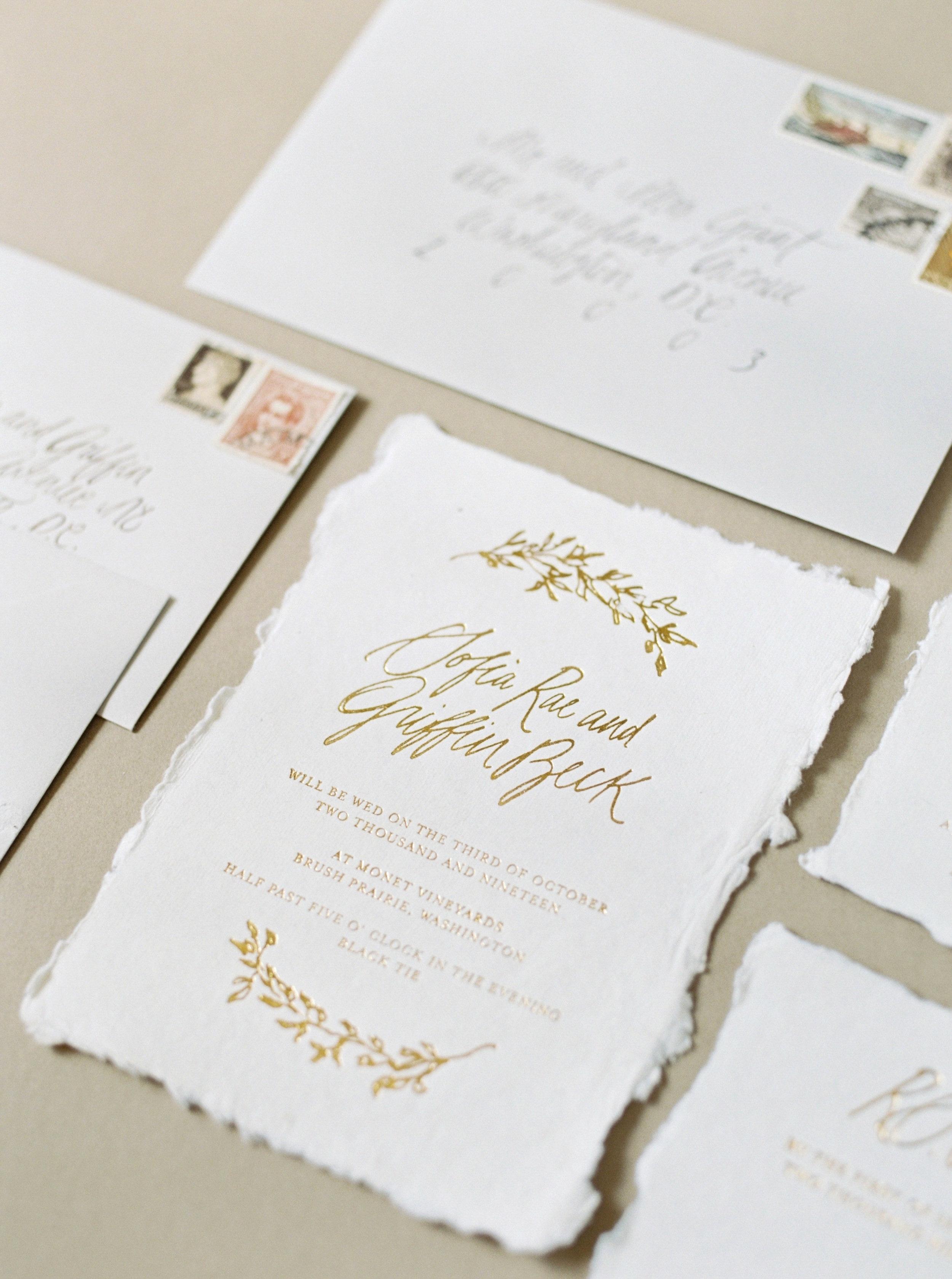 Wedding Invitations & Calligraphy - Ink & Press Co.